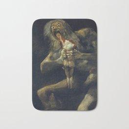 Saturn Devouring His Son by Francisco Goya Bath Mat