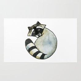 Surprised raccoon Rug