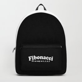 Easy As Fibonacci Funny Math Quote Backpack
