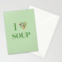 I heart Soup Stationery Cards