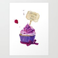 cake Art Prints featuring Cake by Iskoskikh Sveta