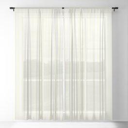 Large Vertical Pastel Lemon Yellow Princess Elizabeth Regal Stripe Sheer Curtain