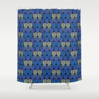 angel wings Shower Curtains featuring Angel Wings by Art Tree Designs
