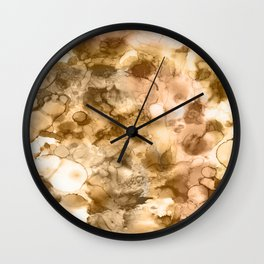 Woodland - Mixed media ink painting Wall Clock