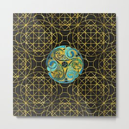 Decorative Triquetra Celtic Ornament Metal Print
