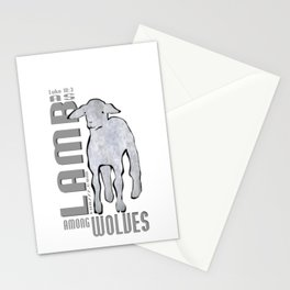 As Lamb among wolves Stationery Cards