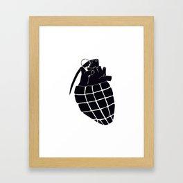 Heart Grenade II Framed Art Print