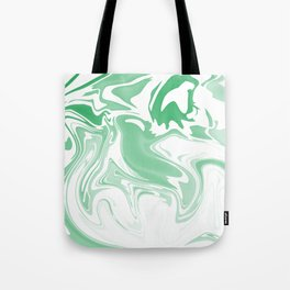 Green Abstract Ink Tote Bag