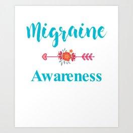 Migraine Headache Pain Awareness Art Print