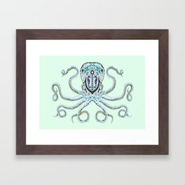 Sugar Skull Octopus Framed Art Print