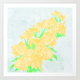 Bank of daffodils Art Print