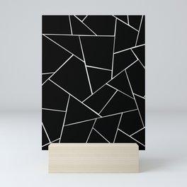Black White Geometric Glam #2 #geo #decor #art #society6 Mini Art Print