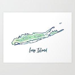 Long Island Agate State Pride Geode Artwork Art Print