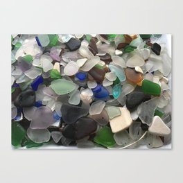 Sea Glass Assortment 1 Canvas Print