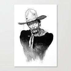 Zombie Wayne. Canvas Print