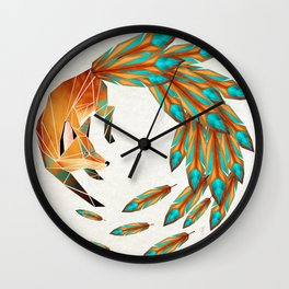 fox circle Wall Clock