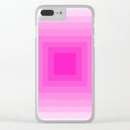 Fuschia Monochrome Clear iPhone Case