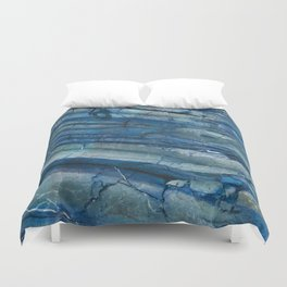 Ocean Depths Blue Marble Duvet Cover