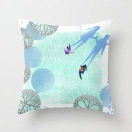 Skating Throw Pillow