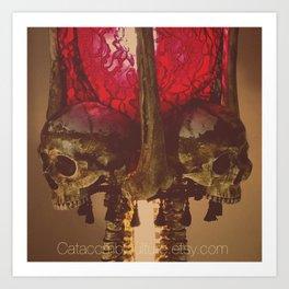 Catacomb Culture - Human Skull Horror Bone Lamp Art Print
