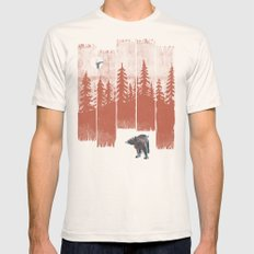 A Bear in the Wild... MEDIUM Natural Mens Fitted Tee
