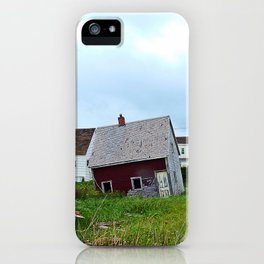 Lighthouse and shacks in North-Rustico PEI iPhone Case