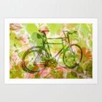 Melony Bike Art Print