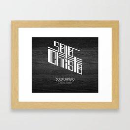 Solo Christo Framed Art Print