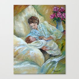 Mother and Child by May Villeneuve Canvas Print