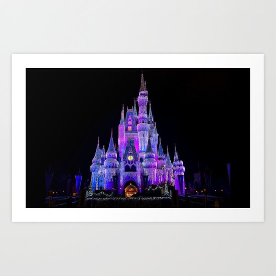 Walt Disney World Christmas Lights Art Print