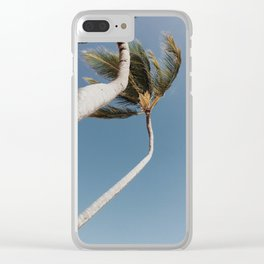 Crooked Palm Trees Clear iPhone Case