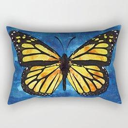 Monarch Butterfly Digital Painting Rectangular Pillow