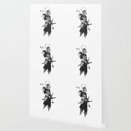 Samurai skull , grim reaper illustration , zombie warrior Wallpaper