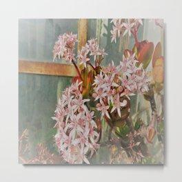 romantic flower window Metal Print