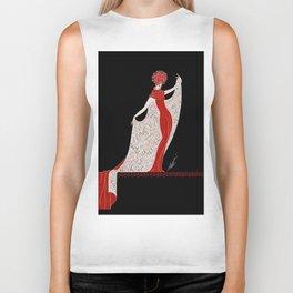 "Art Deco Fashion Design ""Alphabet Cloak"" Biker Tank"