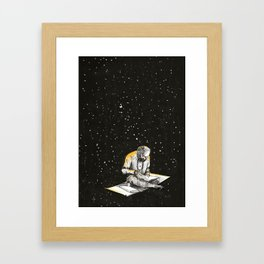 Allen Ginsberg in the sky Framed Art Print