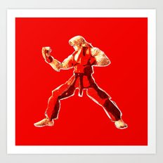Street Fighter II - Ken Art Print