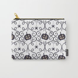 happy hallowen curves and pumkins pattern Carry-All Pouch
