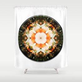 4 Point Mandala - Pumpkins Shower Curtain