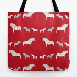 röda hästar Tote Bag