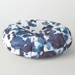 Large waves and sea spray. Floor Pillow
