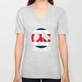 Costa Rica Peace Sign Shirt Unisex V-Neck