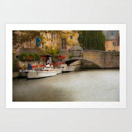 The Love Canal in Brugge Art Print