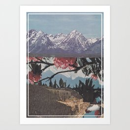 Floral Lake Art Print