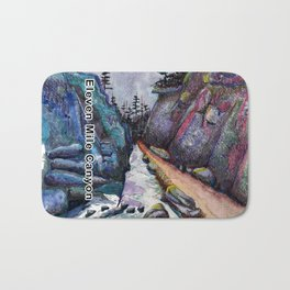 Eleven MiIe Canyon with text Bath Mat