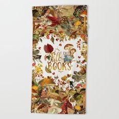 Fall Into Books Beach Towel
