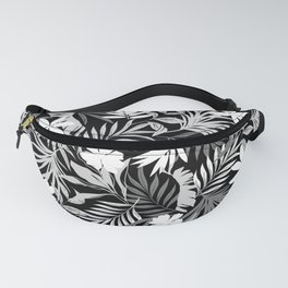 Tropical Floral - Monochrome Fanny Pack