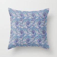 Peacock Swirl - original Throw Pillow
