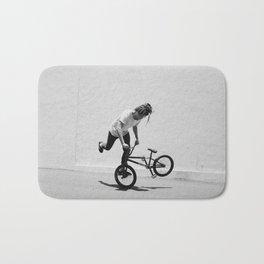Flatland BMX Rider Bath Mat