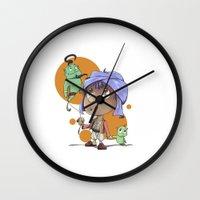 aladdin Wall Clocks featuring Cute Aladdin by EY Cartoons